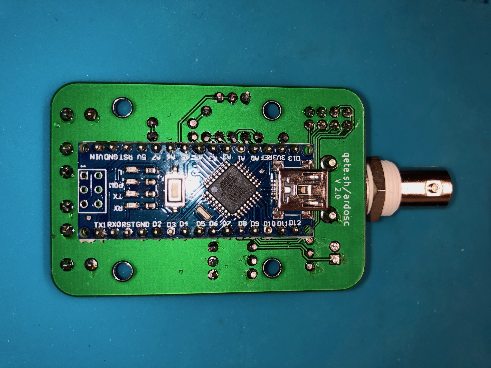 V2 Back with Arduino soldered in